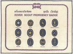 Scouts Of Thailand - Rover Scout Rank Award Proficiency Badge Merit Patch Set
