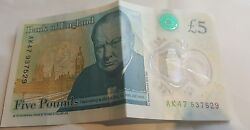 Ak47 Bank Of England Polymer Andpound5 Five Pound Note Rare