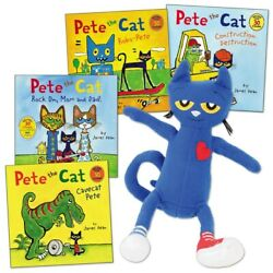 Pete The Cat Stuffed Doll And 4 Paperback Book Set