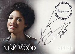 Spike The Complete Story K. D. Aubert As Nikki Wood A5 Auto Card