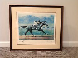 Holy Bull 1984 Horse Of The Year-jenness Cortez/original Etching Hand Printed