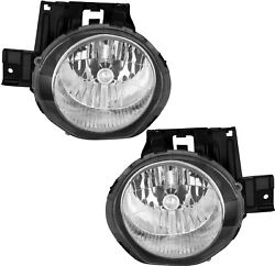 Headlight Headlamp Assembly w/Bulb Pair Set for 2011-2014 Nissan Juke