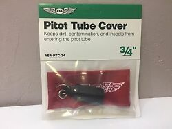 Asa Pitot Tube Cover 3/4 Large P/n Asa-ptc-34 Fits Most Cessnas And Falcon Jet