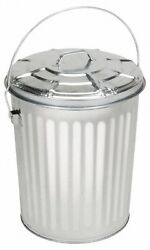 Pro-source Galvanized 10 Gallon Metal Can With Lid, 15-5/16 High