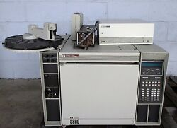 Hp 5890 Series Ii Gas Chromatograph With Hp 7673a