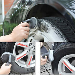 1pc Durable Motorcycle Tire Brush Wire Washing Clean Cleaning Tool Set Black