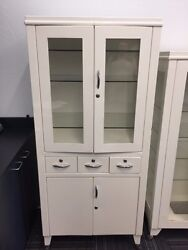 Very Good Condition, Antique Apothecary Cabinet On Wheels