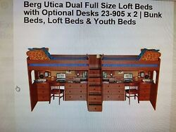 Bunk Bed Lofts Berg Utica Dual Full Size Loft Bed With Desk