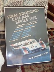 Vintage Porsche Final Standings Can-am Series Racing Sports Cars 1972  Poster