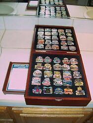 Willibee And Ward Complete Super Bowl Collection Pin Set 50 Years W/display Nice