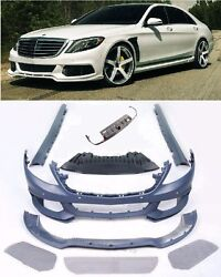 for Mercedes Benz W222 S-Class Body Kit Bumper Side Skirts diffuser 2013+