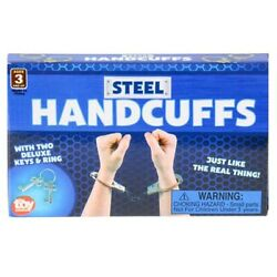 Chrome Handcuffs Cops Police Cuffs Keys Set Chain Game Novelty Item Robbers Play