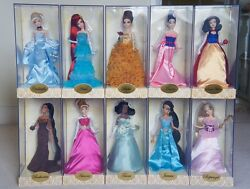 LOT of ALL 16 DISNEY DESIGNER DOLLS 10  PRINCESSES & 6 VILLIan bags included. $8,000.00