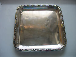 Htf Gushee Claremont Hotel Nyc New York 6 By 6 Silverplate Tray Reed And Barton