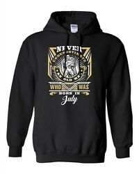 Never Underestimate Who Was Born In July Old Man Funny Dt Sweatshirt Hoodie