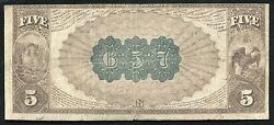 1882 Bb 5 The Plymouth Nb Of Massachusetts National Currency Ch. 779 Rare