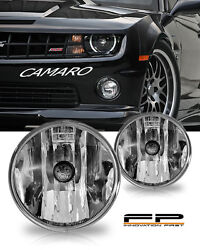 2010 2011 2012 2013 Chevy Camaro Clear Replacement Fog Lights Housing Assembly
