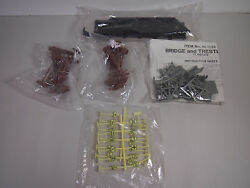 New Without Box H-o Scale Bridge And Trestle Set Signs And Poles