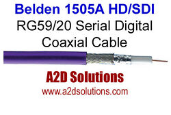 1000and039 Spool - Belden 1505a Rg59/20 Hd And Sdi Digital Coaxial Cable - Violet