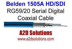 1000and039 Spool - Belden 1505a Rg59/20 Hd And Sdi Digital Coaxial Cable - Blue