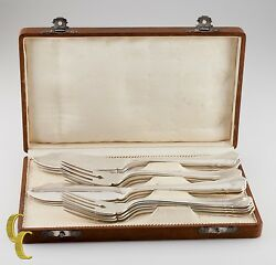 Wilkens Chippendale Sterling Silver 925 Fish Fork And Knives Set 16 Pieces + Box