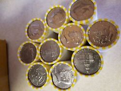 20 Bank Wrapped Rolls Of Kennedy Half Dollars. Unsearched 200 Face Value