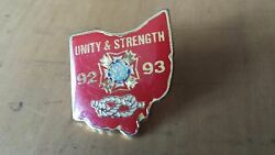 Ohio State Honor Guard Unity And Strength 92-93 Lapel Pin 1 X 3/4