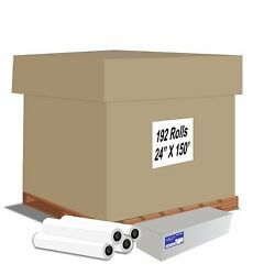 Alliance Cad Inkjet Paper Rolls 24x150and039x2 20lb 92 Bright 192 Roll Pallet Offer