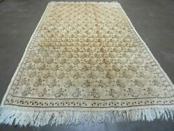 5and039 X 8and039 Antique Hand Made Turkish Oushak Wool Rug Carpet Organic Dyes Nice