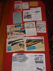 A Lot Of Vintage Toy Model Train Catalogs Booklets And Pamphlets Lionel Ahm