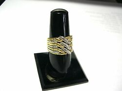 Rare 18k Yandw Gold Spritzer And Fuhrmann Braided Puzzle Ring 9.8 Grams Size 9 1/2