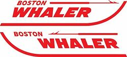 Set of 2 Boston Whaler Boat Decals 4 Sizes Available #2