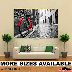 A Wall Art Canvas Picture Print - Retro vintage bike black white Old 3.2