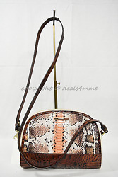 Nwt Brahmin Abby Leather Shoulder/crossbody Bag In Melon Fisher - Tri-color
