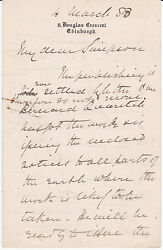 3 Autograph Letters Signed By James Forlong Re. His Book Rivers Of Life - 1883