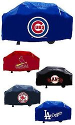 Mlb 68 Inch Vinyl Economy Gas Or Charcoal Grill Cover -select- Team Below