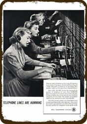 1950 BELL TELEPHONE Vintage Look REPLICA METAL SIGN  PHONE SWITCHBOARD OPERATORS