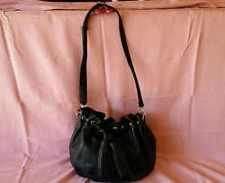 Black hobo purse with nylon lining great condition $18.00
