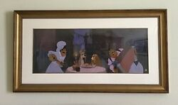 Disney ltd cel PRELUDE TO A KISS from the Bella Notte scene in Lady and Tramp