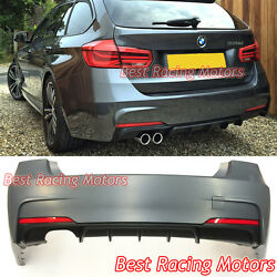 Performance Style Rear Bumper 1 Outlet [2 Tips / Outlet] Fit 14-19 Bmw F31 5dr