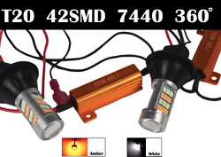 No Canbus Error T20 7440 992 W21w Switchback Led Front Signal Light Drl For Saab