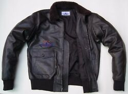 Flight G1 Bomber Pilot Flying Jacket Real Goat Leather Real Shearling Fur Collar