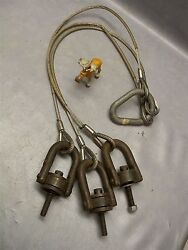 Rigging Sling Crosby 3 Leg Cable Wll 7500 Lbs 5/8 Ring