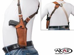Vertical Shoulder Leather Holster for 1911 3quot; 5quot; Choose your Color amp; Hand $38.63