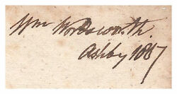 William Wordsworth English Poet Autographed Bookpage - Bold And Authentic