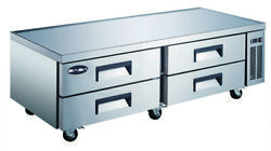 Saba 72 Commercial Stainless Steel Chef Base Refrigerator 4 Drawers Food Prep