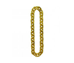 Dillon Jumbo Gold Hip Hop Inspired Chain Link Necklace Costume Accessory