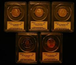 1999s-2009s Clad State Quarter And Dc And Territoory Pcgspr69dcam 56 Coins W/box