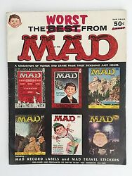 The Worst From Mad 11956-1957 Fn-vf With Record Labels/travel Stickers Intact