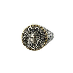 Gerochristo Medusa Ring Silver And Gold Men's Women Fashion Rings